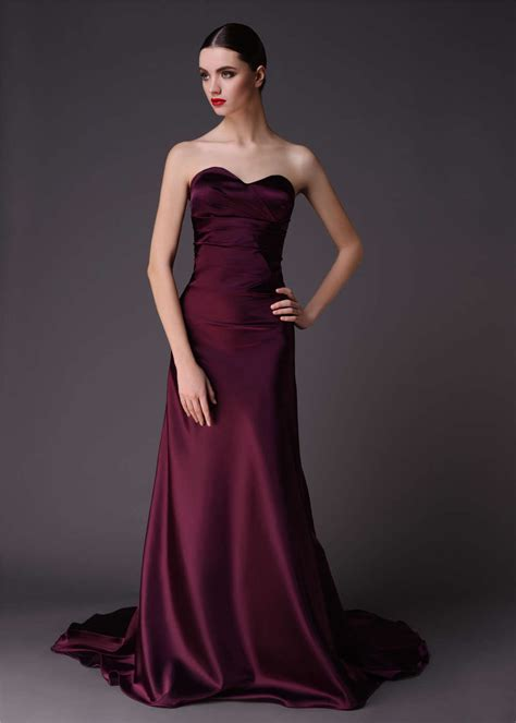lapis dress mahogany satin bridesmaid dress length prom gown