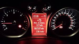 Fiesta St Dash Lights 2009 Focus Fix For No Indicators Outside Temp Red Frost