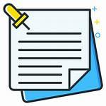 Icon Notes Job Seeker Icons Types Inipagi