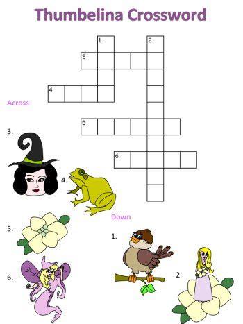 thumbelina crossword puzzles 912 | page c cw easy thumbelina