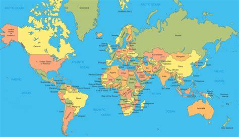 Carte Du Monde Simple by Carte Du Monde Des Pays En Anglais Anglais