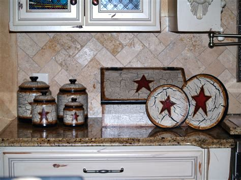 Hand Painted Primitive Star Kitchen Decor  Hobby Hoes