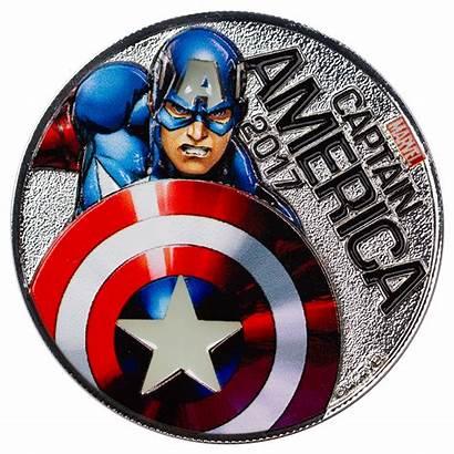 America Captain Marvel Coin Silver Fiji Ups