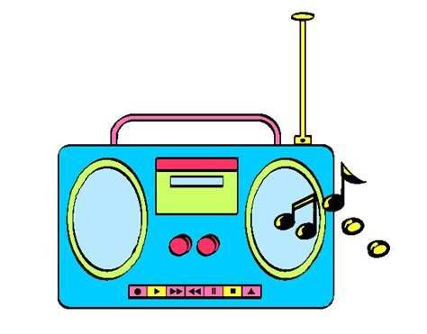 radio cassette dibujo imagui
