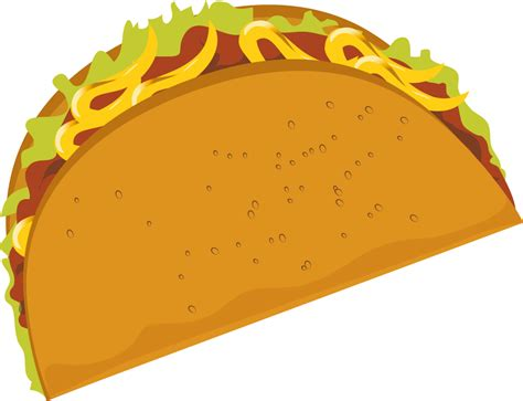 Pencil And In Color Drawn Tacos Clipart