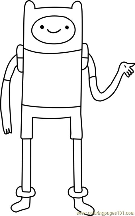 finn  human coloring page  adventure time