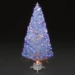 4ft 120cm polar ice white fibre optic led christmas tree ebay