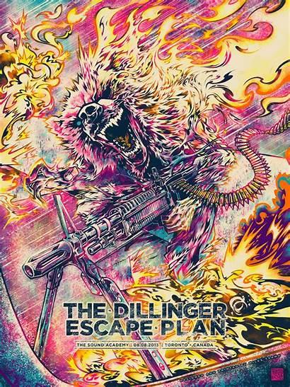 Escape Plan Dillinger Tsang Miles Poster Posters