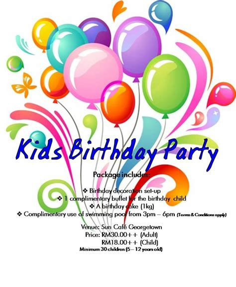 kids birthday party package awesome birthday package