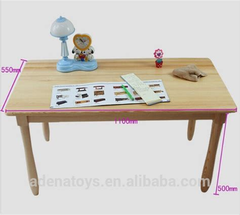 solid wood activity table 700mm kids writing table montessori furniture solid
