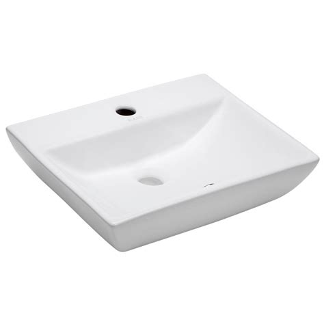 Elanti Wallmounted Rectangular Compact Bathroom Sink In