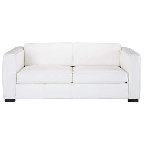 canape blanc 3 places canap 233 convertible 3 places en cuir blanc berlin maisons du monde