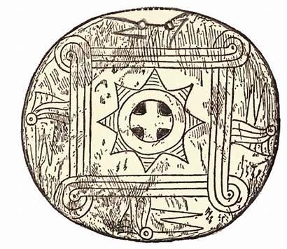 Cherokee Symbols Indian Native Gorget American Artwork