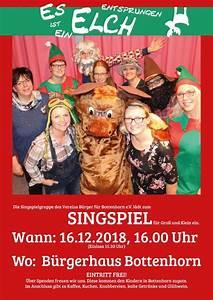Wie Groß Ist Ein Elch : singspiel es ist ein elch entsprungen b rger f r bottenhorn e v ~ Eleganceandgraceweddings.com Haus und Dekorationen