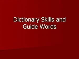 Dictionary Skills And Guide Words 2nd Grade