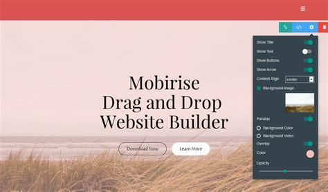 drag  drop website builder