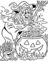 Witch Coloring Printable Witches Halloween 321coloringpages Sorceress sketch template