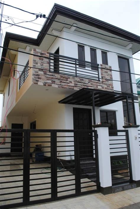 storey modern small houses  gate  philippines modern house