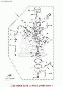 Yamaha Ef1000is 7vv2 Generator 2002 Carburetor