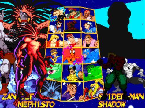 Marvel Super Heroes Vs Street Fighter Secret Characters