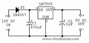 5vdc To 12vdc Converter Circuit Diagram
