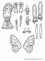 Puppet Coloring Fairy Pheemcfaddell Papel Lilah Dolls Puppets Brinquedos Hampelmann Crafts Fee Fada Doll Trekpoppen Coloriage Pantin Toys Basteln Colorir sketch template