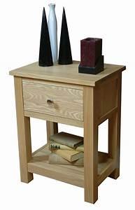 Mobel Oak One Drawer Lamp Table Living Room Furniture