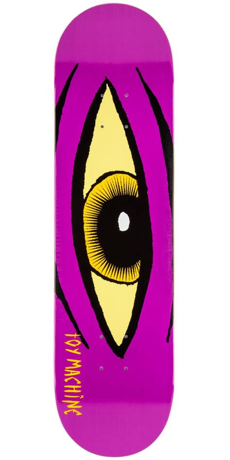 toy machine sect eye skateboard deck 8 125 quot purple