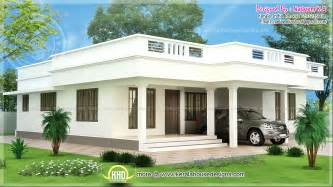 Flat Houses Designs Pictures by Flat Roof Single Storey Home In 1850 Sq Ft Kerala Home