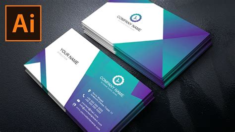 business card design  gradient color illustrator