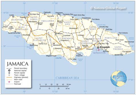 map  jamaica parishes  travel information