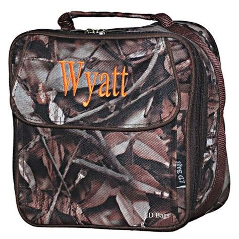 woodsmans personalized insulated camo lunch bag camo