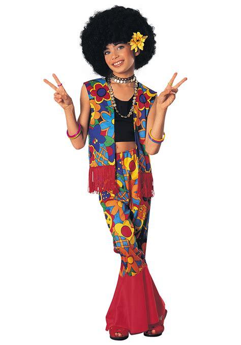 Flower Power Hippie Girls Costume - 60s Hippie Costumes for Kids
