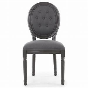 Chaise Medaillon But : chaise m daillon bois patin gris et velours capitonn gris louis xvi lot de 2 ~ Teatrodelosmanantiales.com Idées de Décoration
