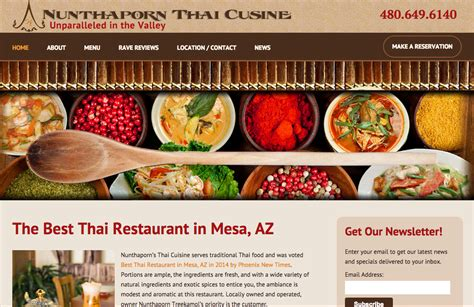 cuisine site 910 s restaurant website design nunthaporn s