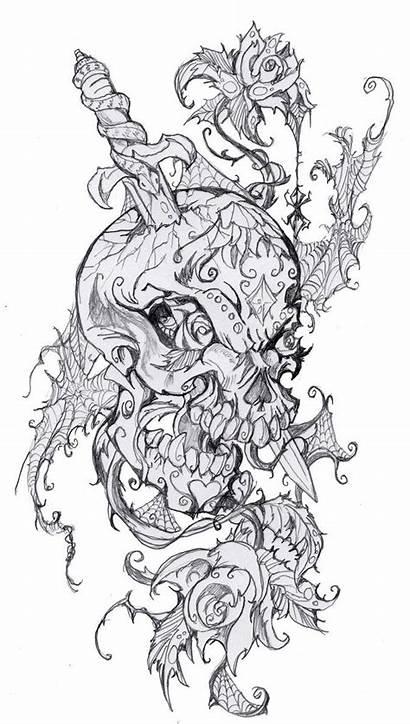 Tattoo Skull Sugar Tattoos Outline Designs Skulls