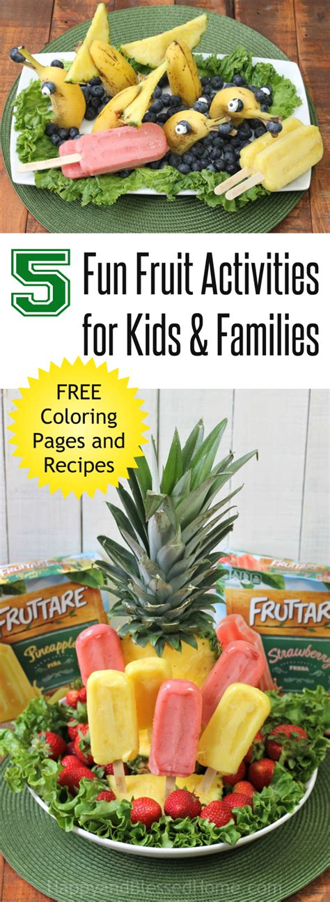 5 Fruit Activities For Families Happy And Blessed Home 5 Fruit Activities For Families Happy And Blessed Home