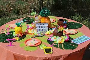 Deco Table Tropical : d coration de table tropicale pour f te estivale purple jumble ~ Teatrodelosmanantiales.com Idées de Décoration