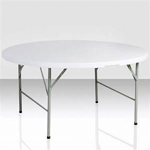 Table Pliante Ronde : table pliante ronde e c events ~ Teatrodelosmanantiales.com Idées de Décoration