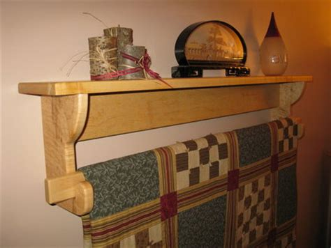 wall hanging quilt rack  shelf   paul pomerleau