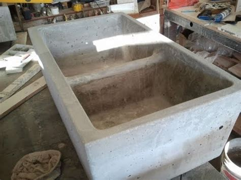 how to make a cement sink concrete farm sink double kitchen mold youtube