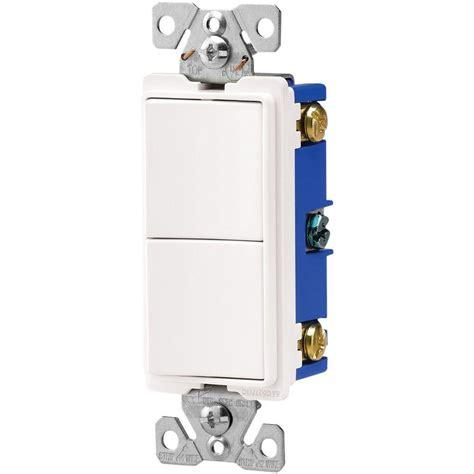 Leviton Amp Combination Double Switch White
