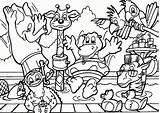 Coloring Zoo Printable Animal Popular sketch template