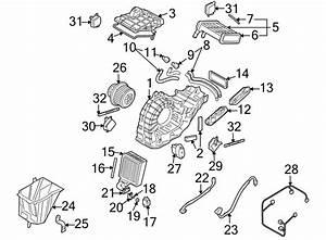 2011 Audi Q7 A  C Evaporator Core  Rear  Air  Conditioning - 7l0820105b
