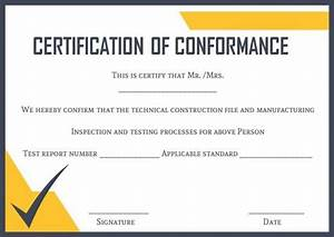 certificate of conformance template certificate of With certificate of conformance template word