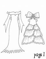 Clothes Doll Coloring Paper Popular sketch template