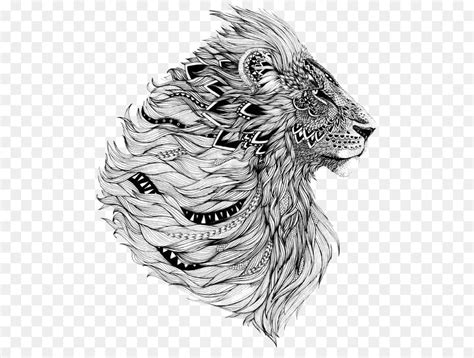 lion sleeve tattoo flash lion  transprent png