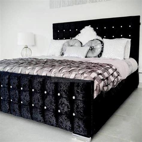 mattress topper valencia luxury crushed velvet upholstered bed frame