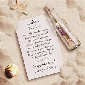 7 personalized anniversary gifts to declare your love With message in a bottle love letter