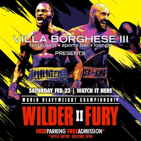Deontay Wilder vs. Tyson Fury II – Villa Borghese III ...